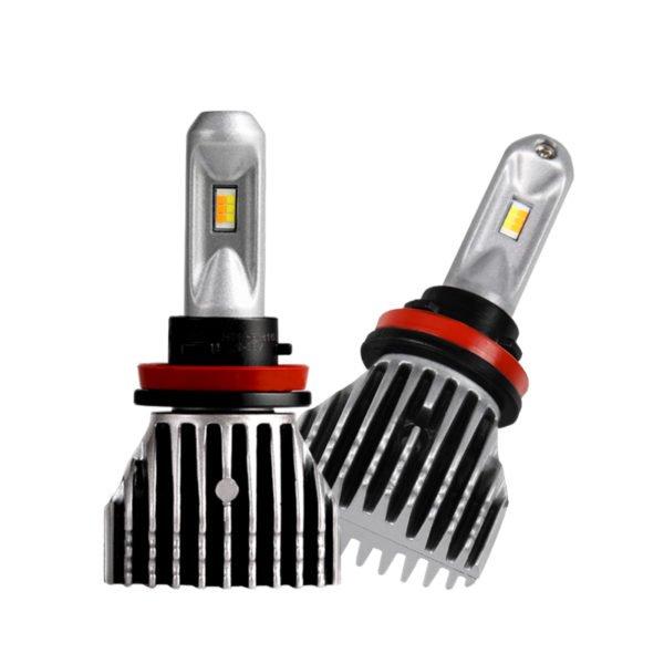 H11 H8 H16 LED Fog Light Bulb No Fan Dual Color White&Yellow